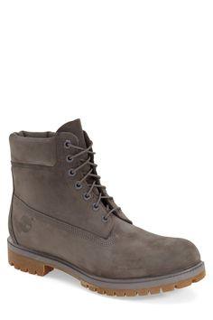 Monochromatic Waterproof Plain Toe Boot. Timberland WaterproofMan MenShoes  ...