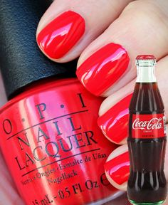OPI Coca-Cola Red Nail Polish OPI NLC13