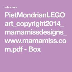 PietMondrianLEGOart_copyright2014_mamamissdesigns_www.mamamiss.com.pdf - Box Preschool Art, Pdf, Lego, Kunst, Legos