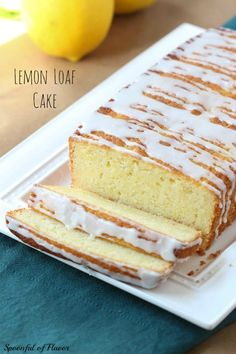 Lemon Loaf Cake ~ Will brighten up your day & makes a perfect gift for the holidays!