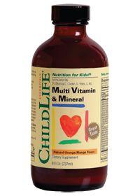 Childlife Essentials Multivitamin & Mineral for Kids, 8.0 Fluid Ounces , Liquid
