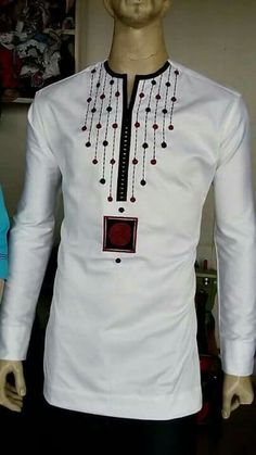 African men's wear/embroidery African shirt/Jolomie design for men/African high fashion/African wear/trendy African style African Shirts For Men, African Dresses Men, African Clothing For Men, African Attire, African Wear, African Women, African Style, Nigerian Men Fashion, African Print Fashion