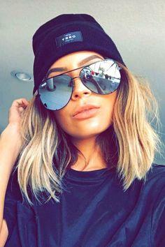 Quay Australia x Desi Perkins Black HIGH KEY Aviator Designer Sunglasses