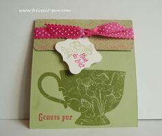 """Freizeit ... pur:   Stampin Up! Teebeutelverpackung """"Eine Tasse Freundschaft"""""""