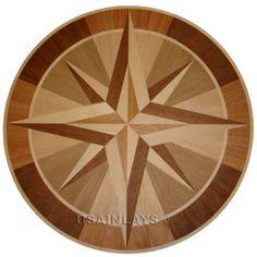 """Hardwood Floor Medallion Inlay- 28"""" Nirvana"""