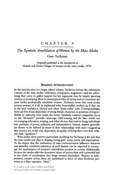 The Symbolic Annihilation of Women by the Mass Media - Springer
