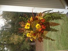 Beautiful Fall Hanging Basket Baskets Plants Pinterest Christmas Decor