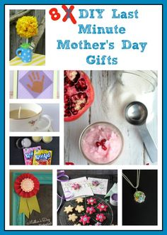 8 DIY Last Minute Mother's Day Gifts {Make It For Mom} |