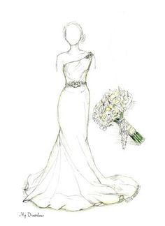 Dreamlines Wedding Dress Sketch Testimonial I Wanted To Thank You For Working So Closely With My Husband And Maid Of Honor In Helping Them Create