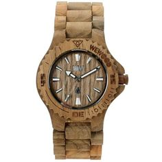 WeWOOD Date - Teak Colour Wooden Watch Unisex, Case and band are made of Guaiaco wood, which is a tree native to South America. Good value for money.