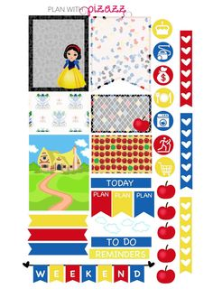Disney SNOW WHITE Inspired Weekly theme Planner by PlanwithPizazz