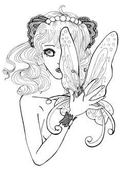 Inner Butterfly - lineart by *Yaraffinity on deviantART
