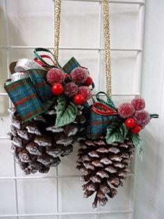 クリスマスまつぼっくり Christmas pine cones