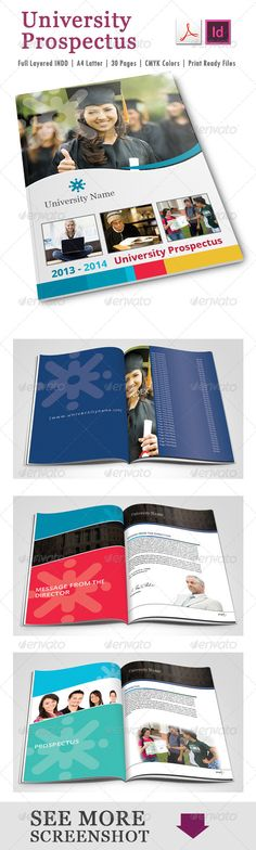 College  University Brochure Template Design