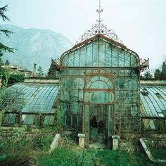 Aqua greenhouse. Lake Como Italy.