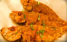 Fried red Snapper, marinated with fresh Caribbean herbs and pan fried until crisp.