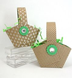 Click here to see photos and directions for easy and adorable baskets made with Shine On Specialty Designer paper… #stampyourartout #stampinup - Stampin' Up!® - Stamp Your Art Out! www.stampyourartout.com
