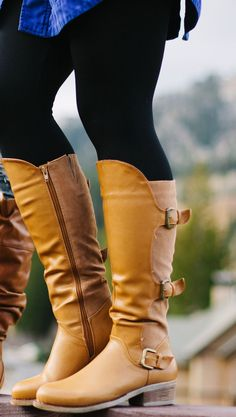 Fall is almost here! Start it off right in a cute new pair of buckled boots!  Available in 3 colors: Black, Nude, Cognac