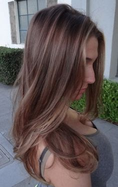 light brunette w/highlights .... Jessica long this is the color I want