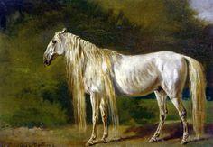 The White Horse (1879) by Rosa Bonheur via cavetocanvas (tumblr)