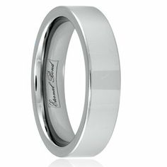SENUS II 6mm Tungsten Carbide Flat Polished Wedding Band Ring (Size 4-15) Eternal Bond. $29.95