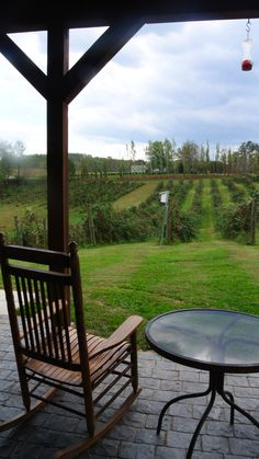 Hill Top Berry Farm & Winery in Nellysford, Virginia...the view from the porch....great with a glass of their Cranberry wine!