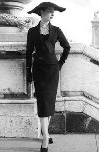 Linha H.Christian Dior,Foto dos anos 40.