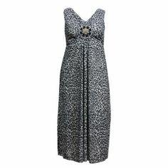 Maxi dress léopard motif perlé (ex lovedrobe) Du 44 au 56
