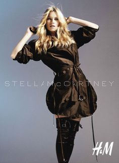 Kate Moss for HM in Stella McCartney by Mario Sorrenti (fall 2012)