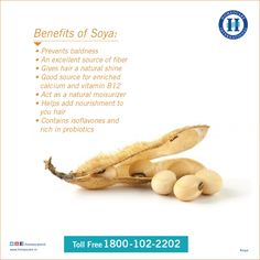 Soya works amazingly on ‪‎hair‬, know the complete benefits of soya for healthy hair.