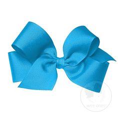 Medium Classic Grosgrain Hair Bow (Plain Wrap) $7.00 #bows #hair
