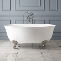 """Watters Acrylic Clawfoot Tub - Imperial Feet from Signature Hdwre, 59"""" long x 33.5"""" wide, $1472 with bronze hdwre"""