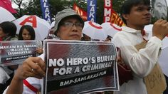 Hundreds of people in the Philippines capital, Manila, protest against plans to…