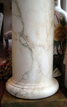 faux marbled columns