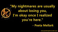 """Peeta is adorable but honestly when i read this, i rolled my eyes like """"seriously Peeta?"""" So cheesy"""