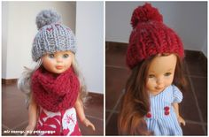 Doll Clothes Patterns, Clothing Patterns, Nancy Doll, Knit Crochet, Crochet Hats, Barbie And Ken, 18 Inch Doll, Knitted Hats, Winter Hats