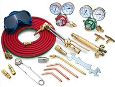 Kit de equipo Oxi-Acetileno Refrigeration And Air Conditioning, Welding Tools, Refrigerator, Conditioner, Kit, Types Of Welding, Welding Equipment, Calcium Carbide, Tool Storage