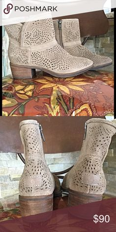 UGG Darling Seaweed Perf booties. NWT Fall fav  Light weed suede and laser cut with Seaweed inspired patterned. These look great with skirts , jeans, or pants. Fully cushioned footbed lined with uggpure sock liner that wicks away moisture. Can't pass these up at this price!!! UGG Shoes Ankle Boots & Booties