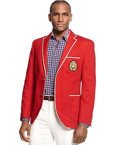INC International Concepts Jacket, Devin Slim Fit Blazer - Mens ...