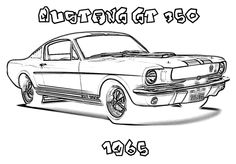 mustangs  coloring pages and coloring on pinterest