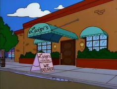 Luigi's Pizza - também vai abrir no Fast Food Boulevard Springfield no Universal Studios 2013