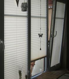 Qualitätsplissees als Sichtschutz am Fenster / quality pleated blinds on the window