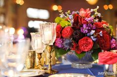 our bright winter wedding flowers by botanicals Chicago.