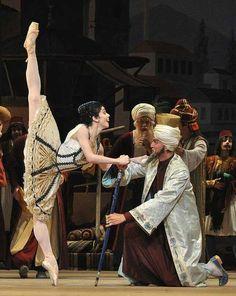 "Natalia Osipova in ""Le Corsaire"" with Alexei Loparevich # Bolshoi Ballet 2010 #photo by John Ross..."