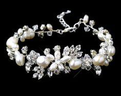 Crystal Bridal bracelet Wedding bracelet by TheExquisiteBride