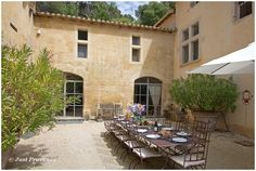 rustic outdoor wedding venue Montagnette in the South of France with Just Provence