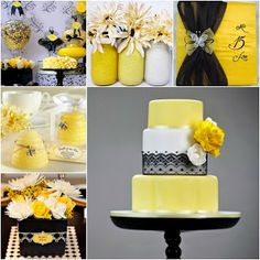 The Queen Bee   Yellow and Black Sweet Fifteen Theme #quinceanera