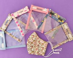 Easy Sewing Projects, Diy And Crafts Sewing, Sewing Hacks, Projects To Try, Diy Mask, Diy Face Mask, Handmade Desks, Animal Face Mask, Hand Sanitizer Holder
