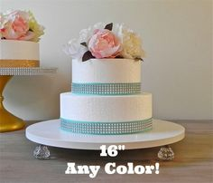 16 ANY COLOR Wedding Cake Stand Cupcake Bling by EIsabellaDesigns