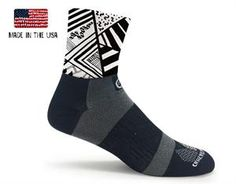 Black Abstract Cycling Socks  #crazycompression  #crazyclan www.crazycompression.com